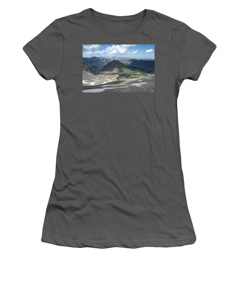 Grays Peak Women's T-Shirt (Athletic Fit) featuring the photograph Where We Had Been by Angus Hooper Iii