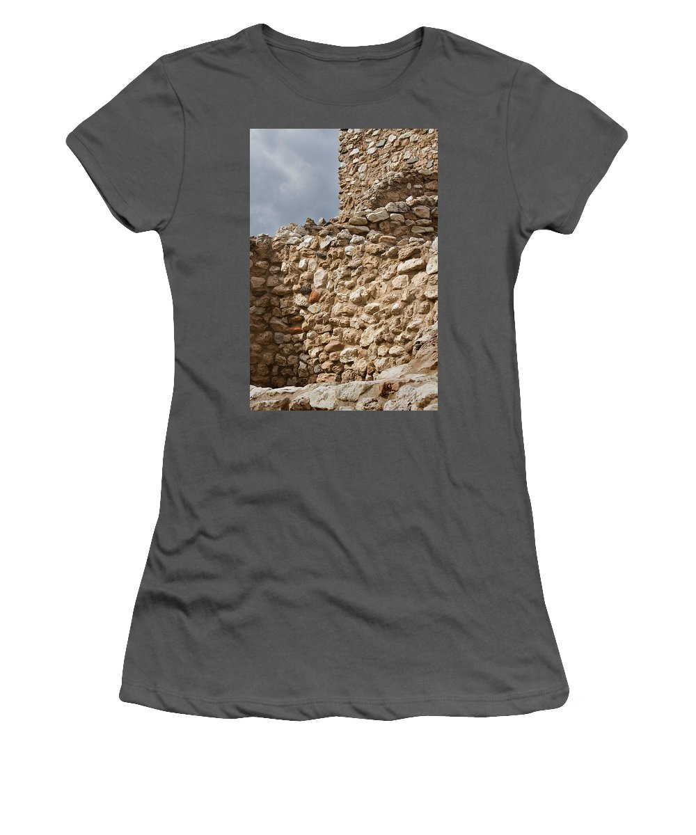 Ruins Women's T-Shirt (Athletic Fit) featuring the photograph Whispers From The Past by Phyllis Denton