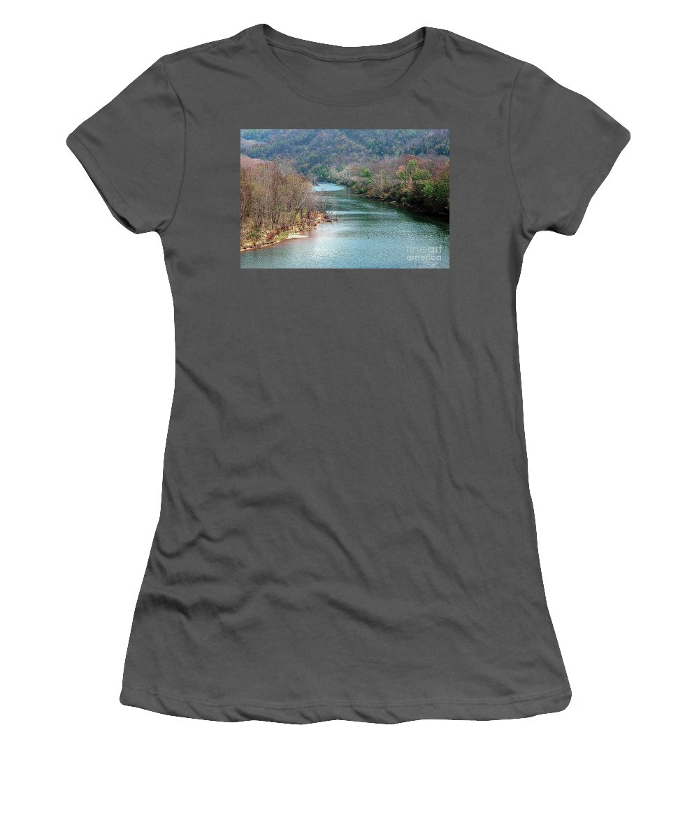 White Women's T-Shirt (Athletic Fit) featuring the photograph White River by Kathleen Struckle