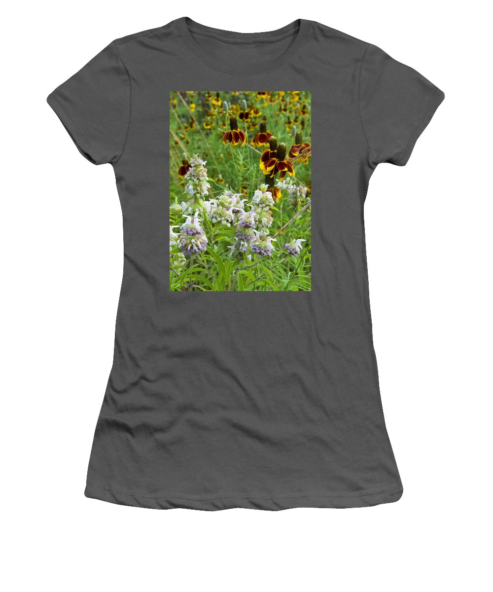 Wildflower Women's T-Shirt (Athletic Fit) featuring the photograph Wildflowers Seven by Stephen Anderson