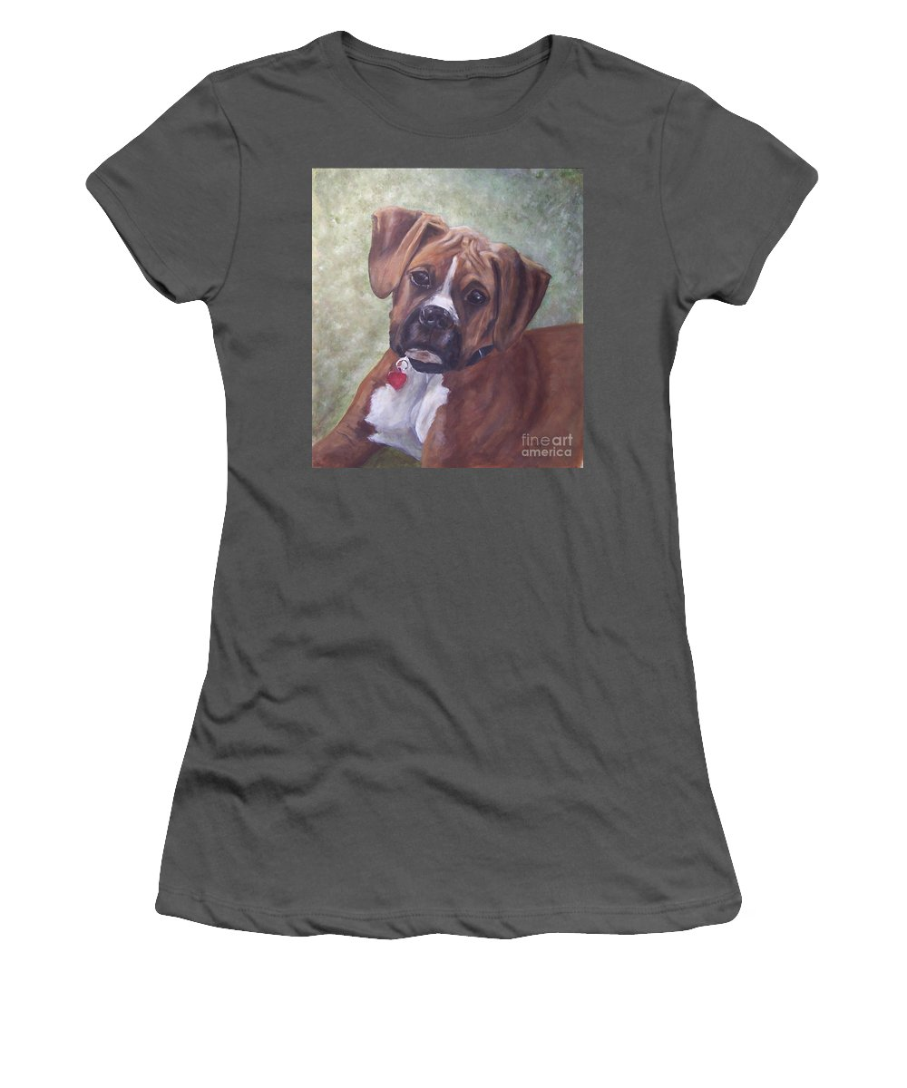 Dog Women's T-Shirt (Athletic Fit) featuring the painting Windsor by Elizabeth Ellis