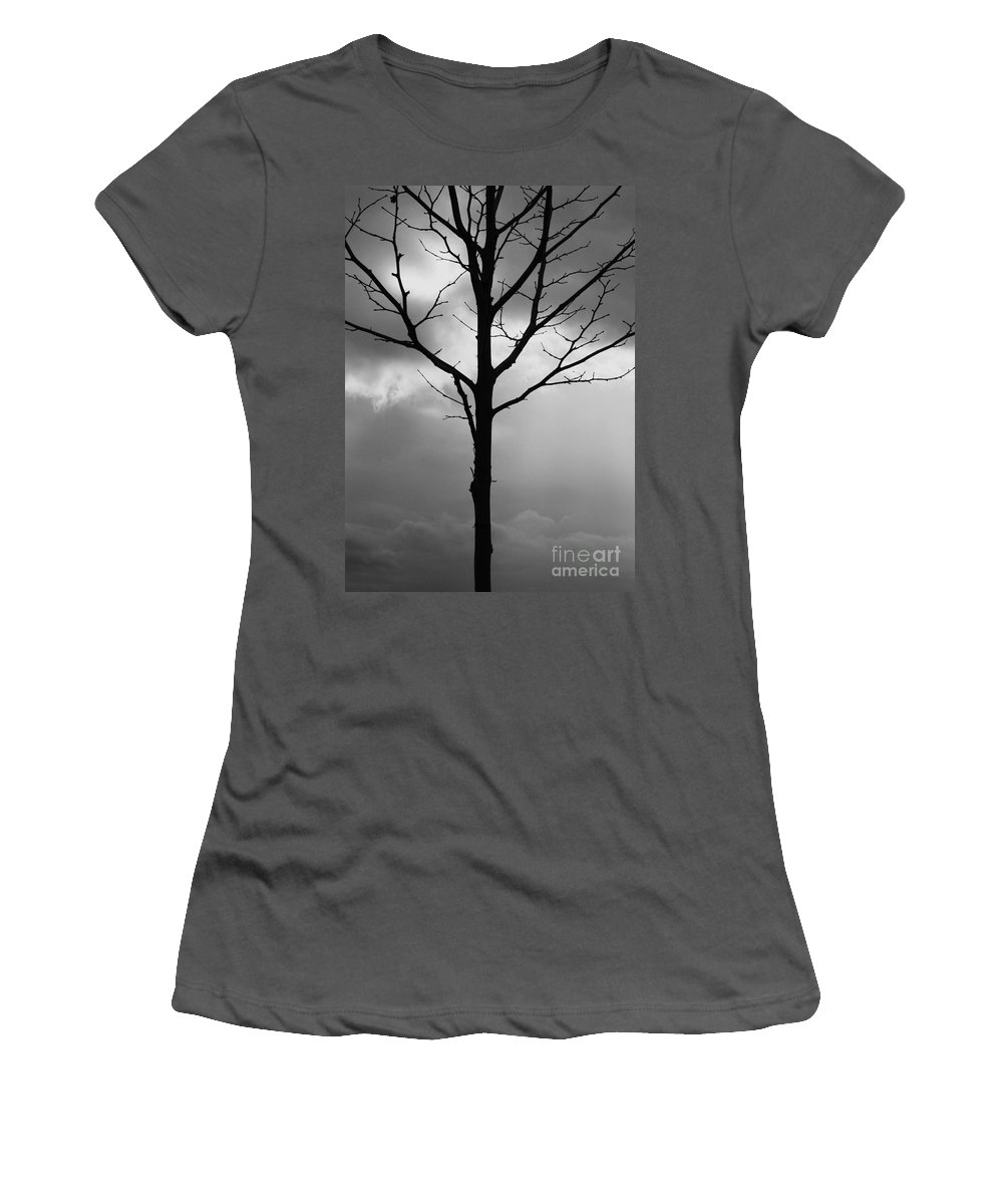 Winter Tree Women's T-Shirt (Athletic Fit) featuring the photograph Winter Tree by Carol Groenen