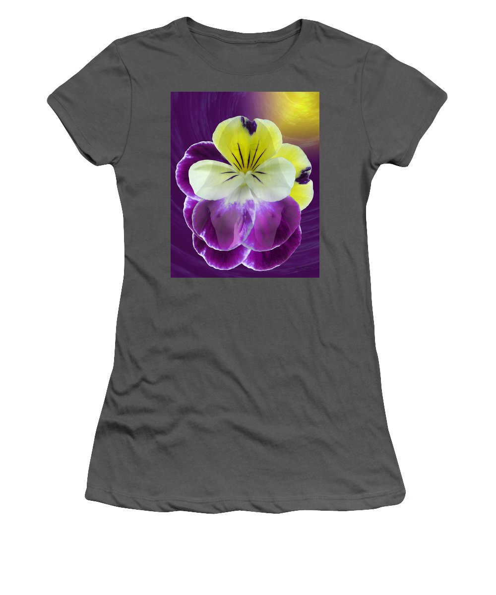 Fleurotica Art Women's T-Shirt (Athletic Fit) featuring the digital art Wonder by Torie Tiffany