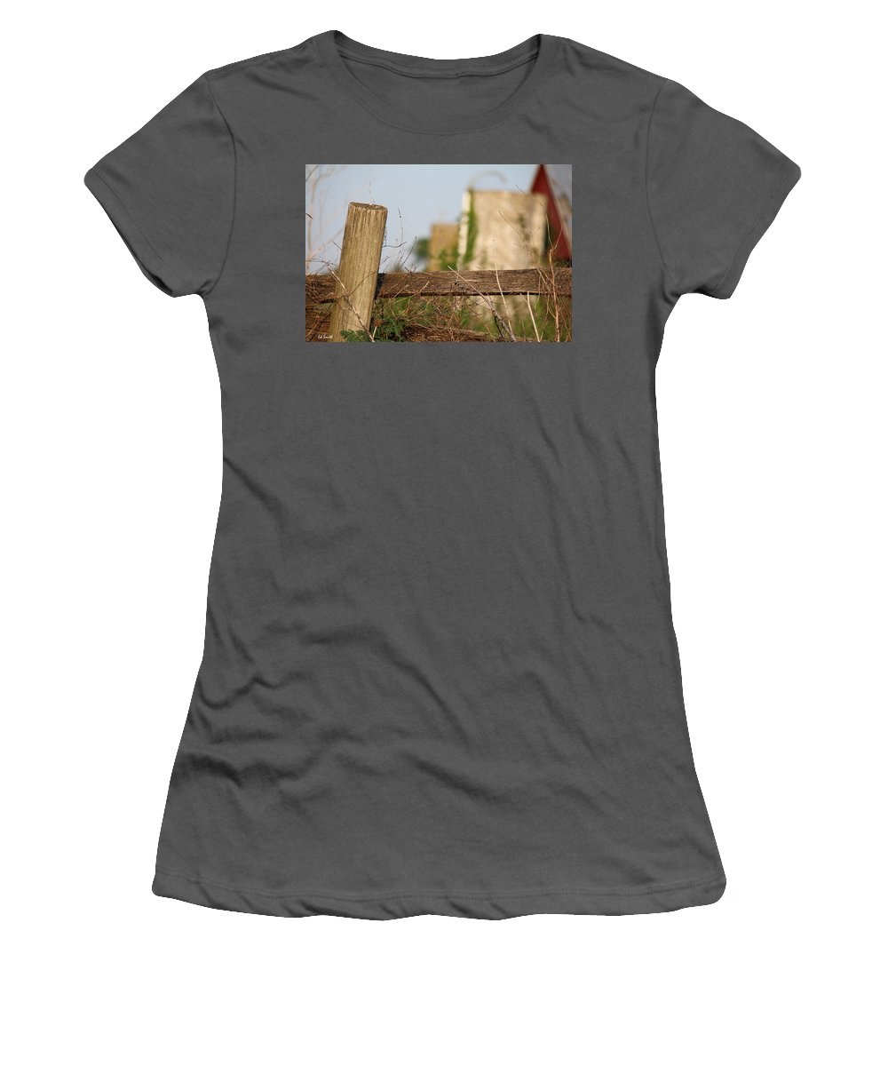 Wood Compass Women's T-Shirt (Athletic Fit) featuring the photograph Wood Compass by Ed Smith