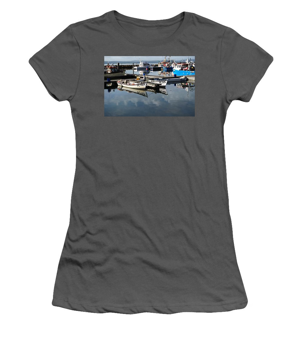 Women's T-Shirt (Athletic Fit) featuring the photograph Working Boats by Chris Day