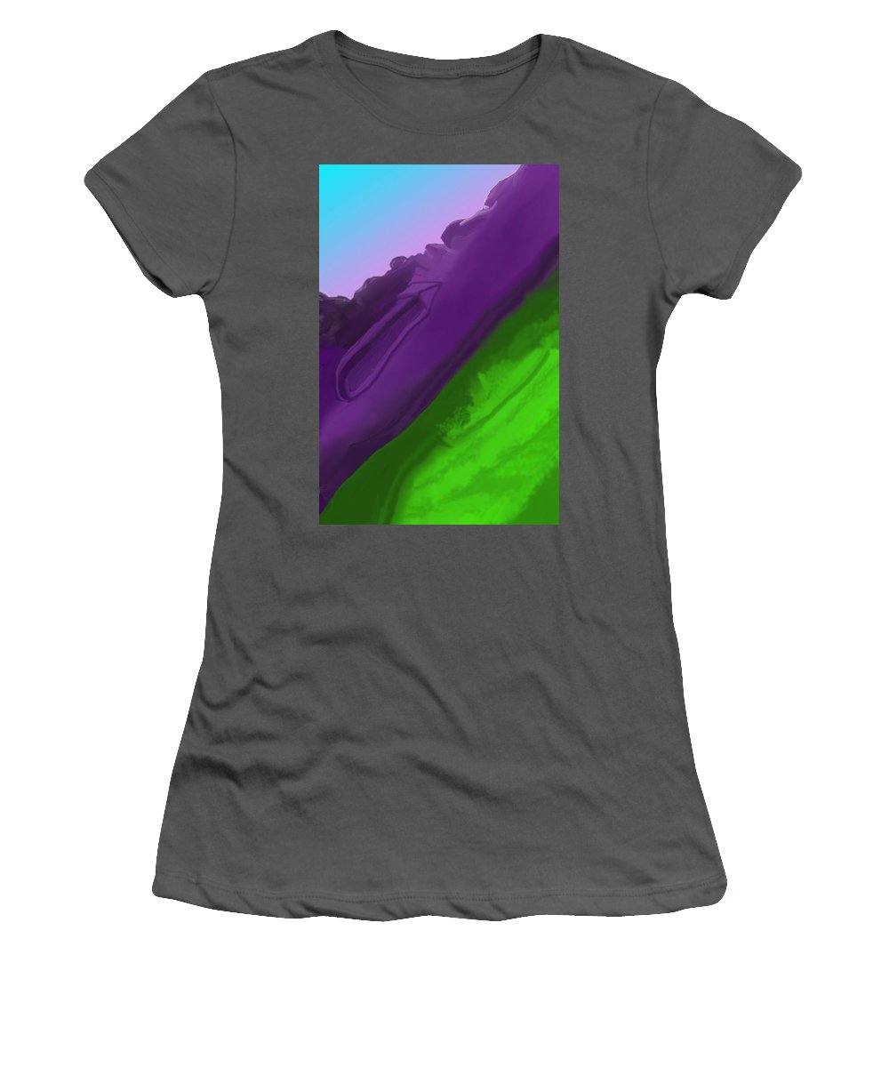 Fine Art Women's T-Shirt (Athletic Fit) featuring the digital art Wtf 1 by David Lane