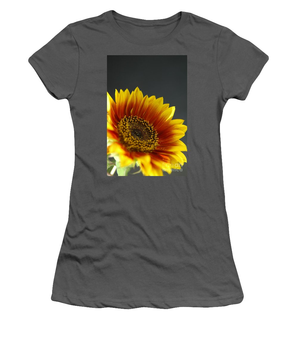 Yellow Women's T-Shirt (Athletic Fit) featuring the photograph Yellow And Orange Gerber by Ilan Amihai