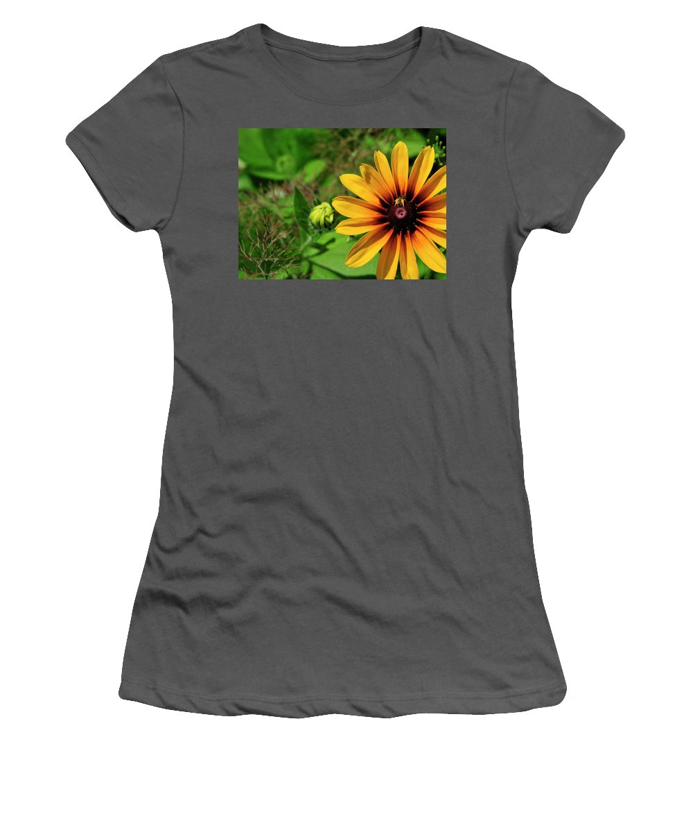 Flower Women's T-Shirt (Athletic Fit) featuring the photograph Yellow Legs by David Arment