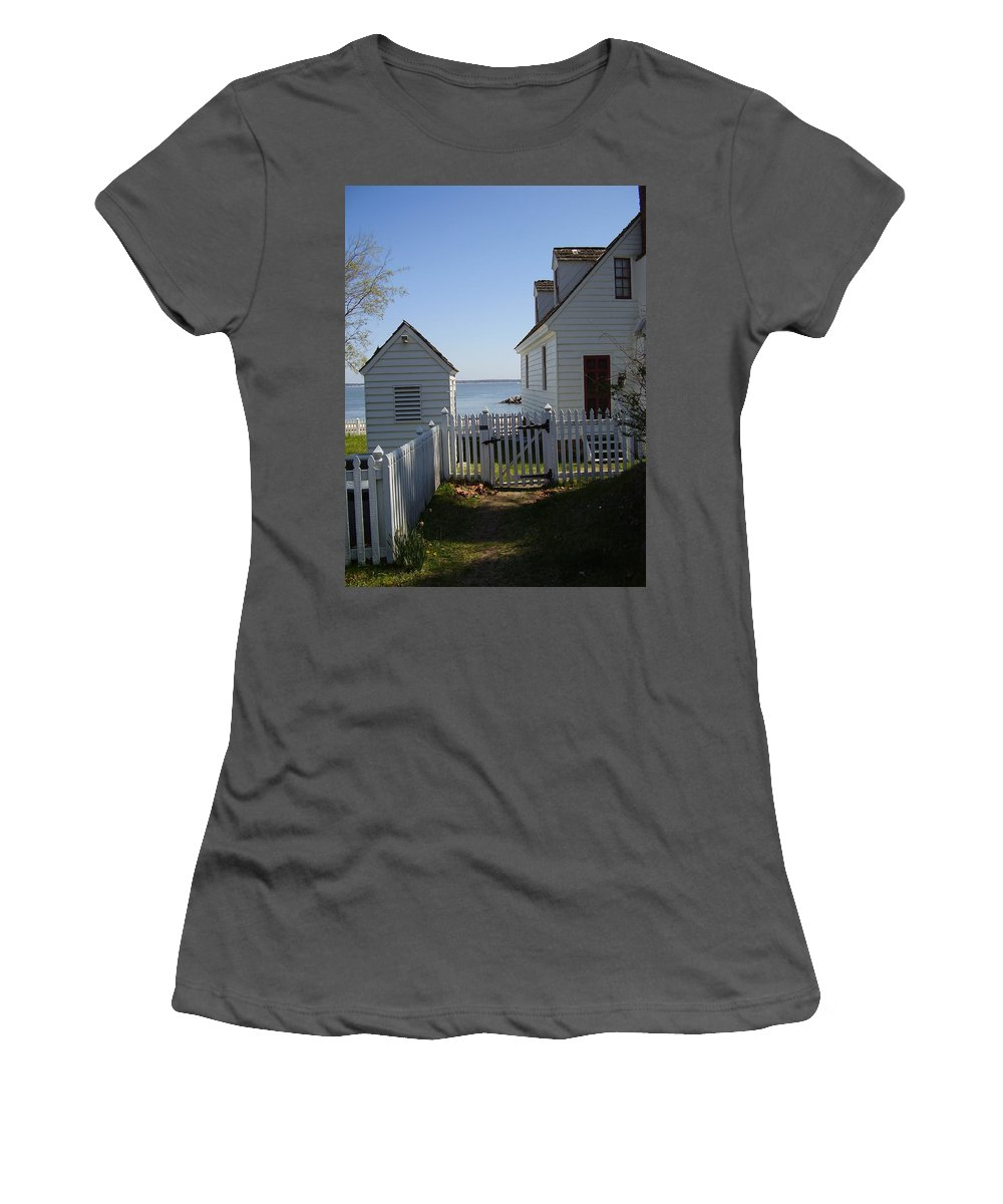 Yorktown Women's T-Shirt (Athletic Fit) featuring the photograph Yorktown by Flavia Westerwelle