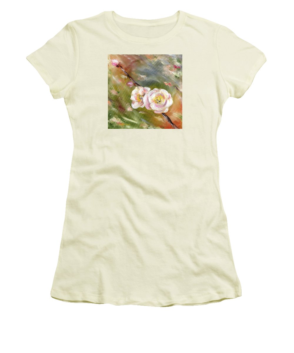Flower Women's T-Shirt (Athletic Fit) featuring the painting Anniversary by Hiroko Sakai