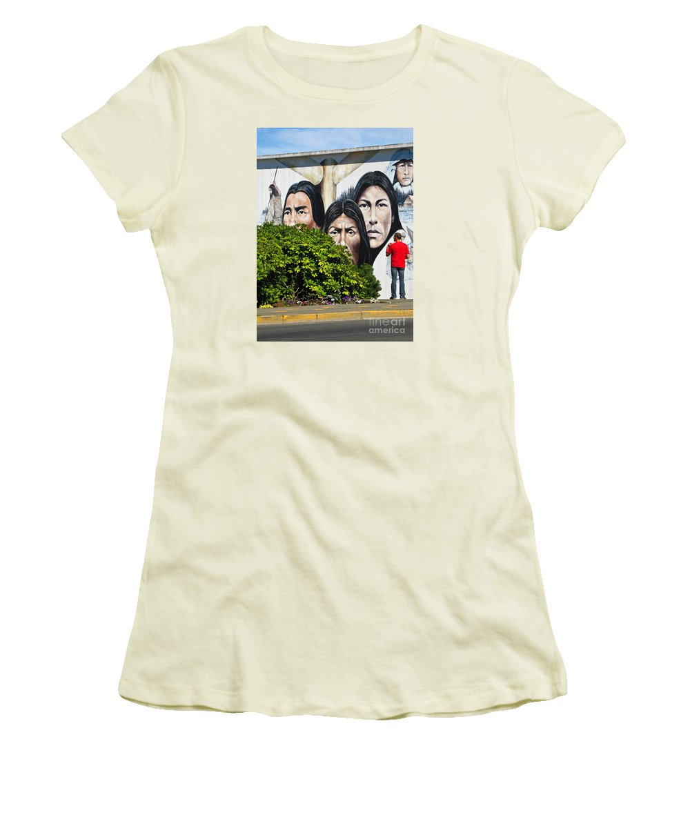 Canada Women's T-Shirt (Athletic Fit) featuring the photograph Canadian Retrospective by Ann Horn