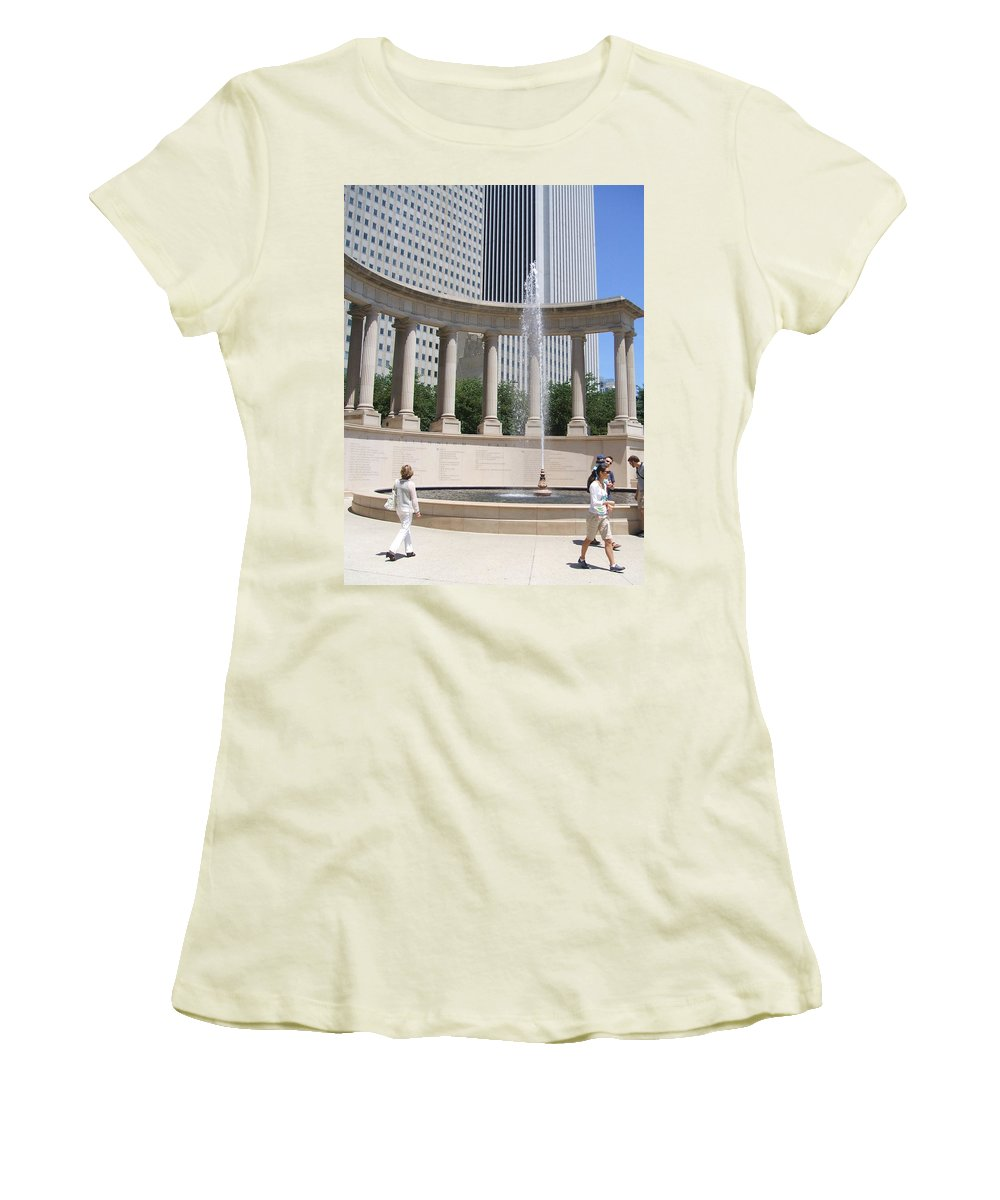 Chicago Women's T-Shirt (Athletic Fit) featuring the photograph Chicago Tourism by Minding My Visions by Adri and Ray