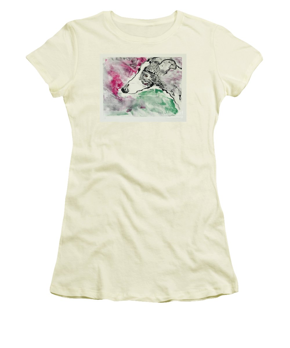 Greyhound Women's T-Shirt (Athletic Fit) featuring the painting Cyrus by Cori Solomon