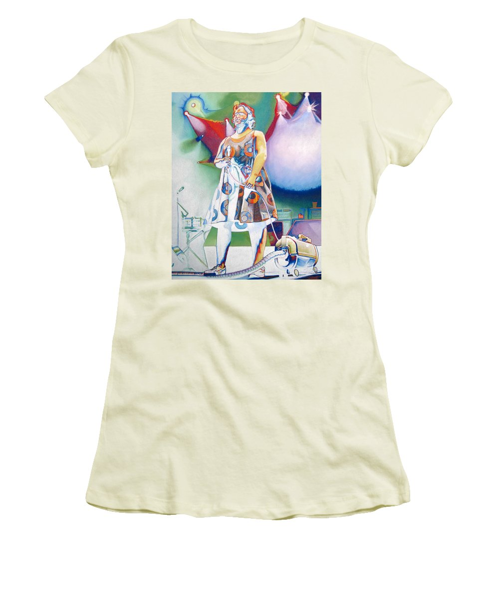 Phish Women's T-Shirt (Athletic Fit) featuring the drawing Fishman And Vaccum by Joshua Morton