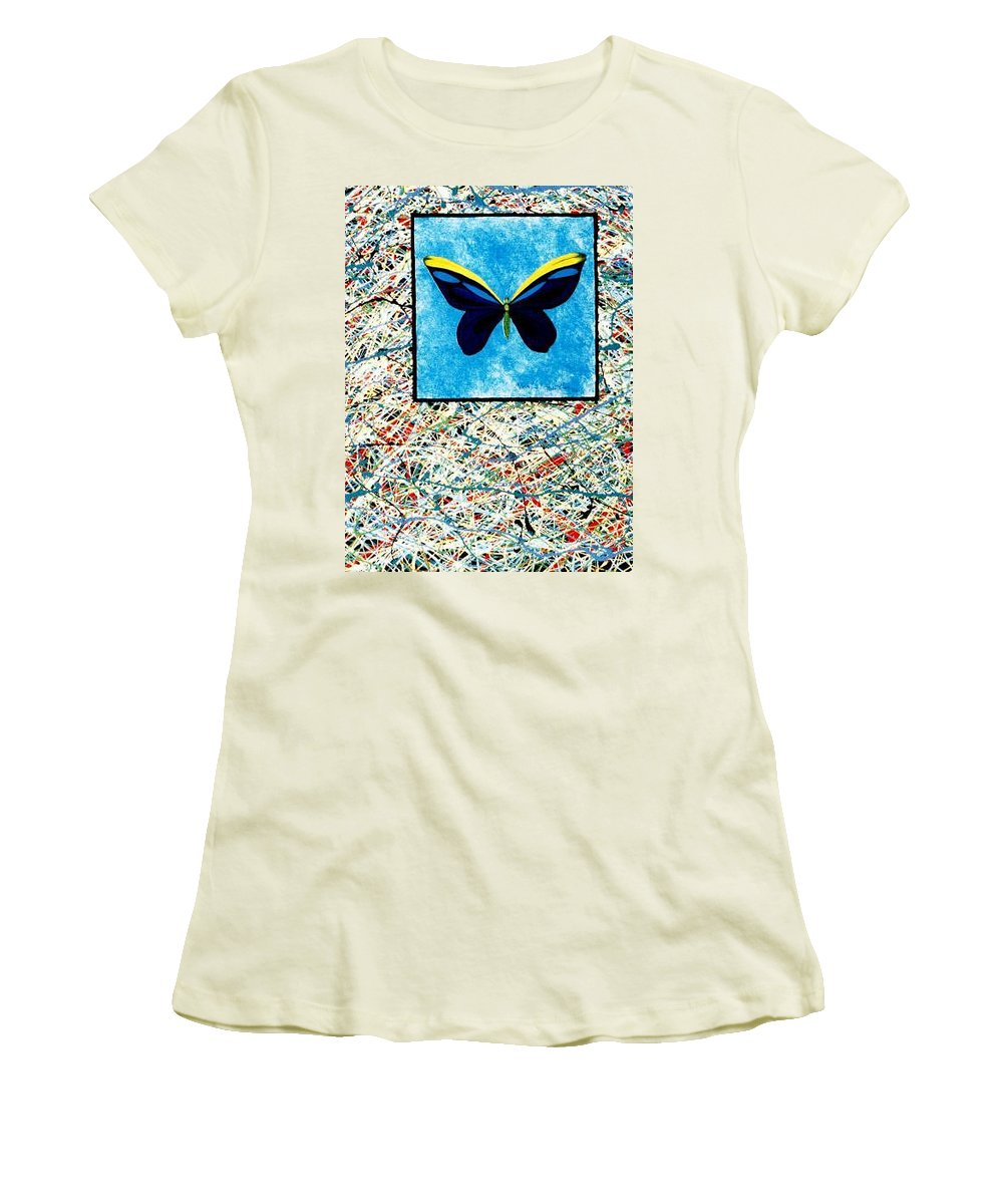 Abstract Women's T-Shirt (Athletic Fit) featuring the painting Imperfect II by Micah Guenther