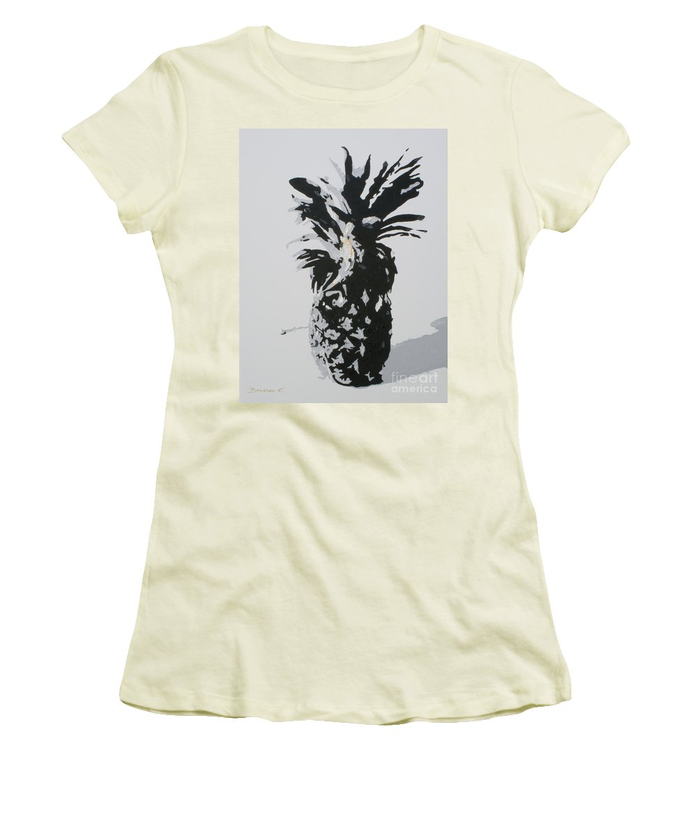 Pineapple Women's T-Shirt (Athletic Fit) featuring the painting Pineapple by Katharina Filus