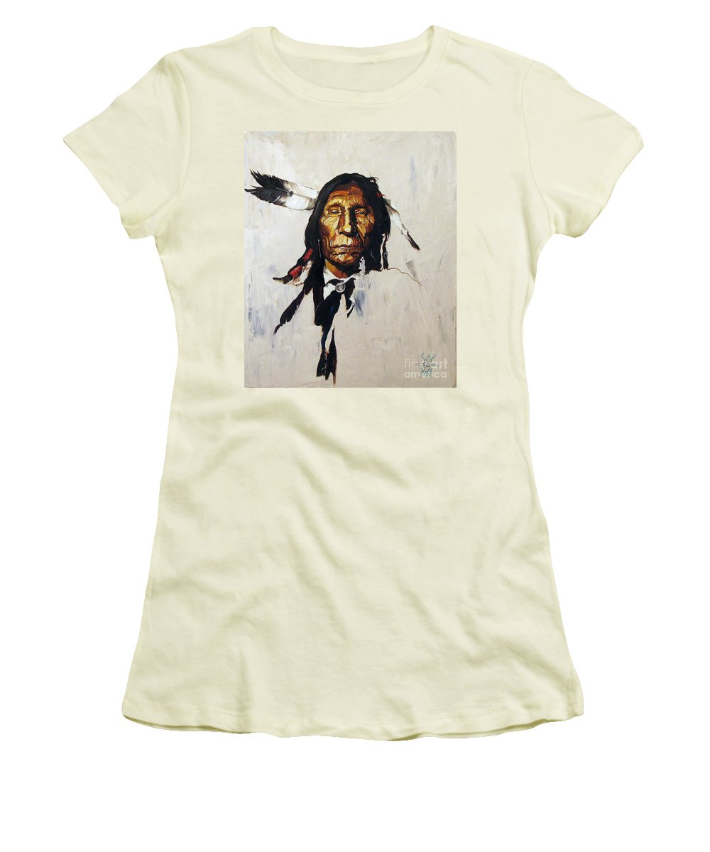 Southwest Art Women's T-Shirt (Athletic Fit) featuring the painting Remember by J W Baker