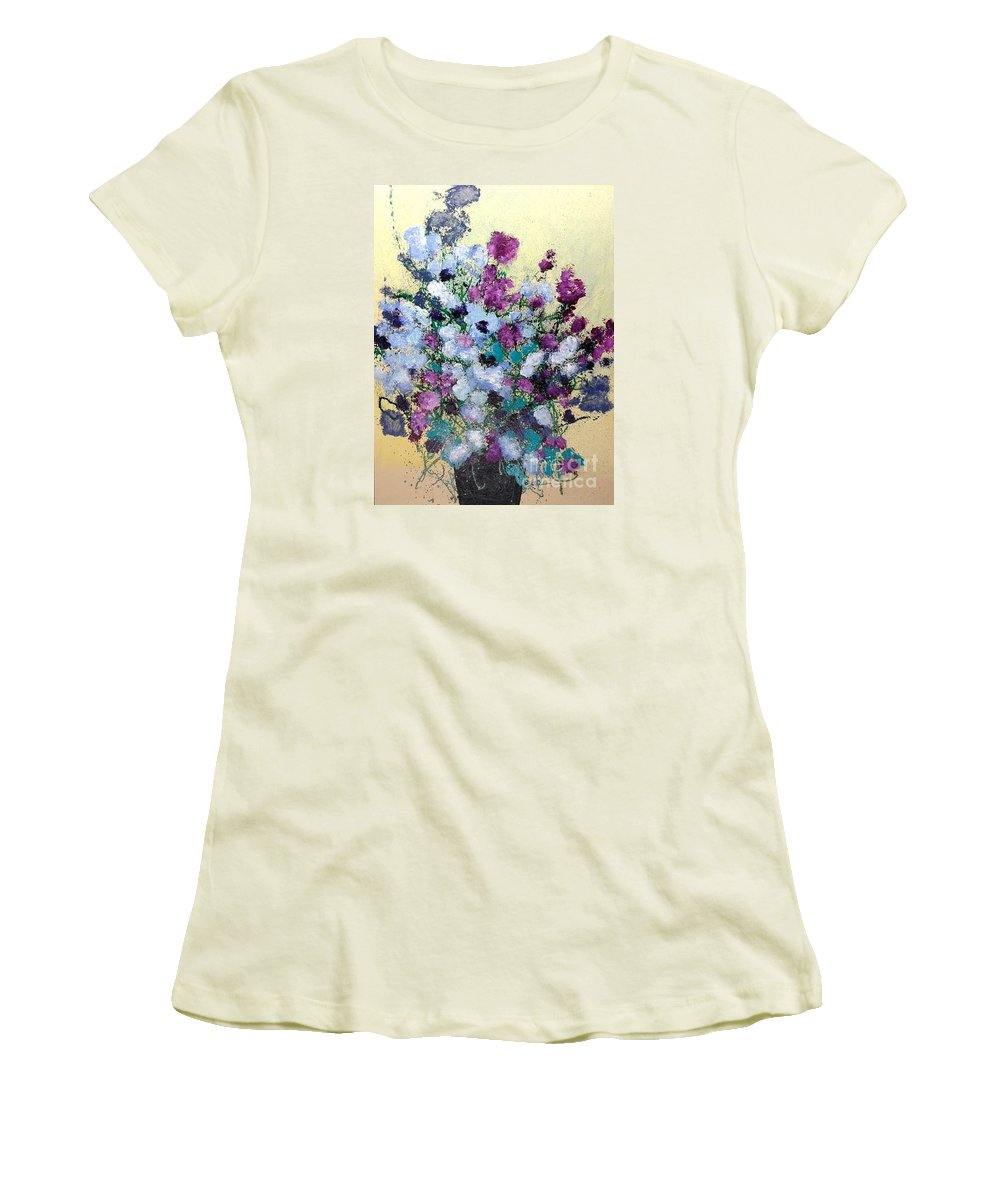 Landscape Women's T-Shirt (Athletic Fit) featuring the painting Remembering When by Allan P Friedlander