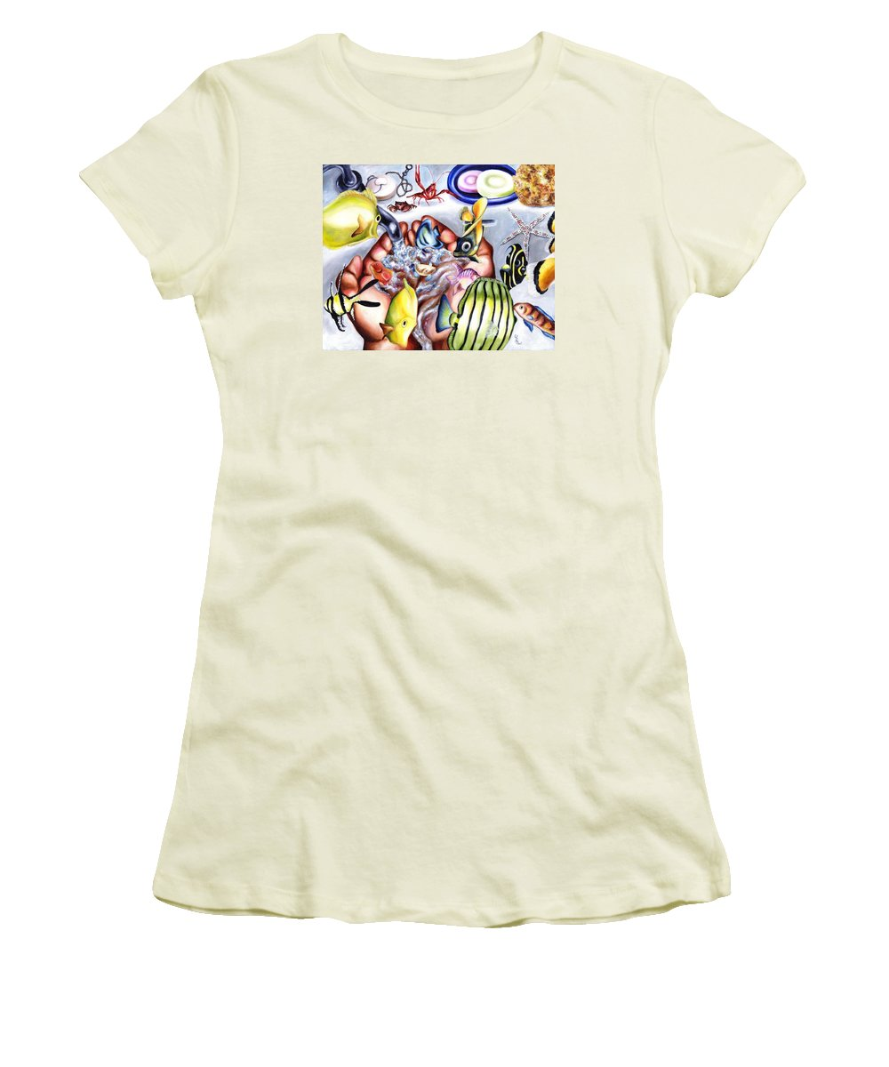 Dream Women's T-Shirt (Athletic Fit) featuring the painting Still Drunk by Hiroko Sakai