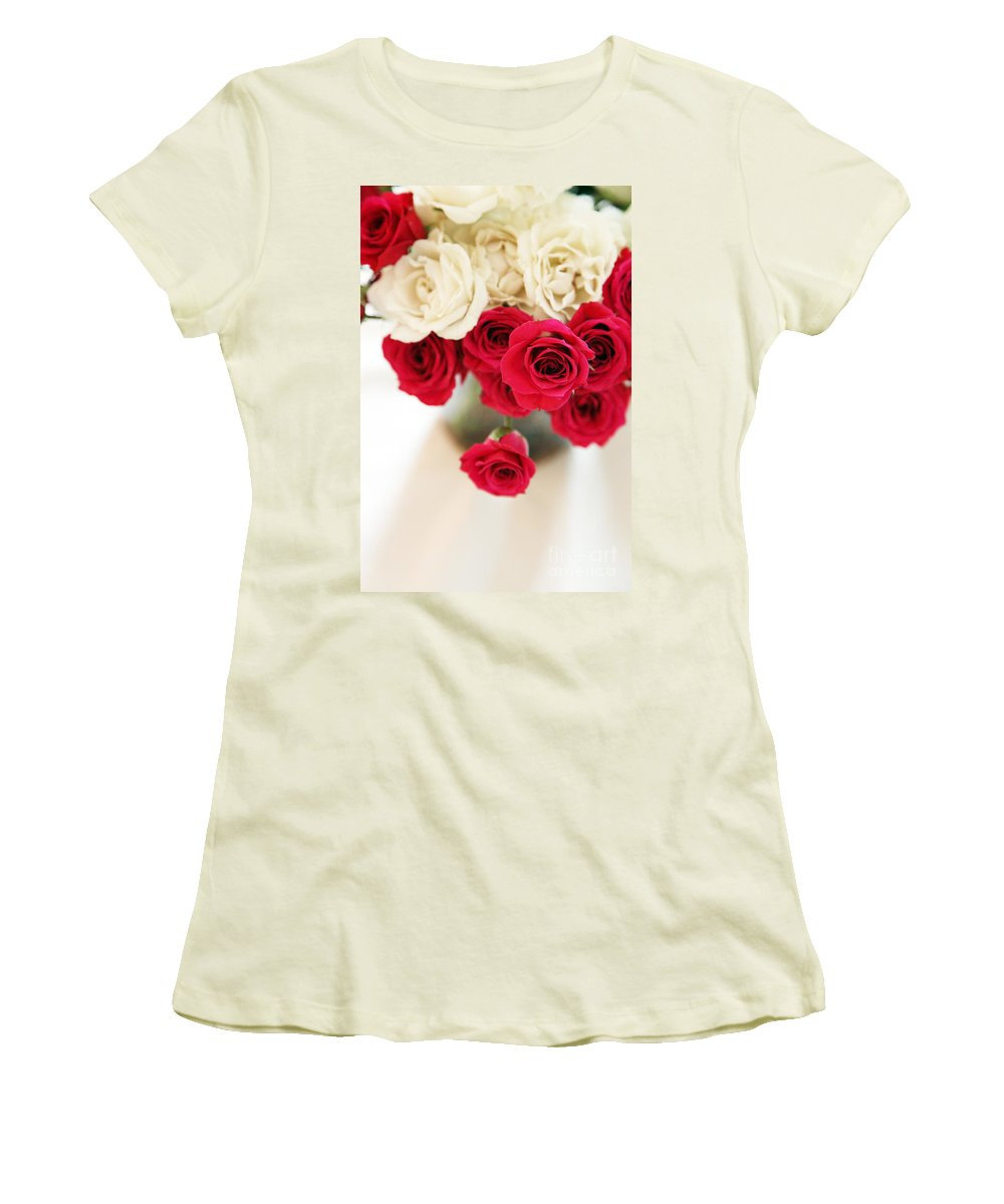 Roses Women's T-Shirt (Athletic Fit) featuring the photograph Still Moments by Amanda Barcon