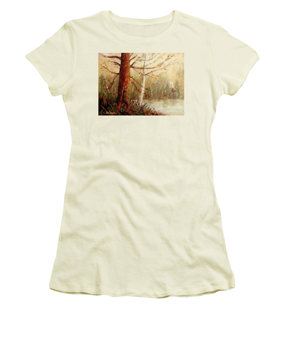 The African Prince Women's T-Shirt (Athletic Fit) featuring the painting The African Prince by Carole Spandau