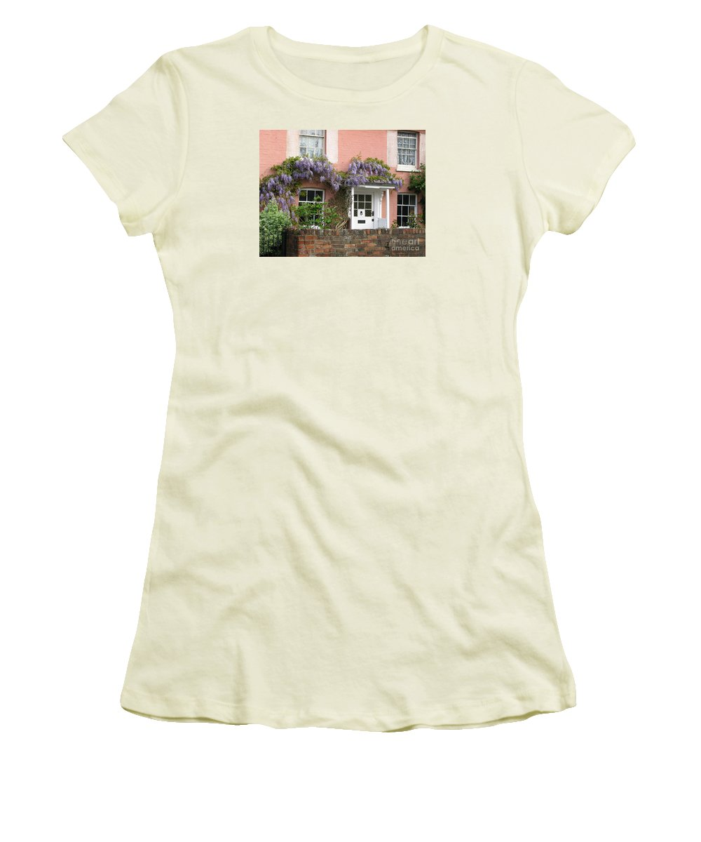 Wisteria Women's T-Shirt (Athletic Fit) featuring the photograph Wisteria House by Ann Horn