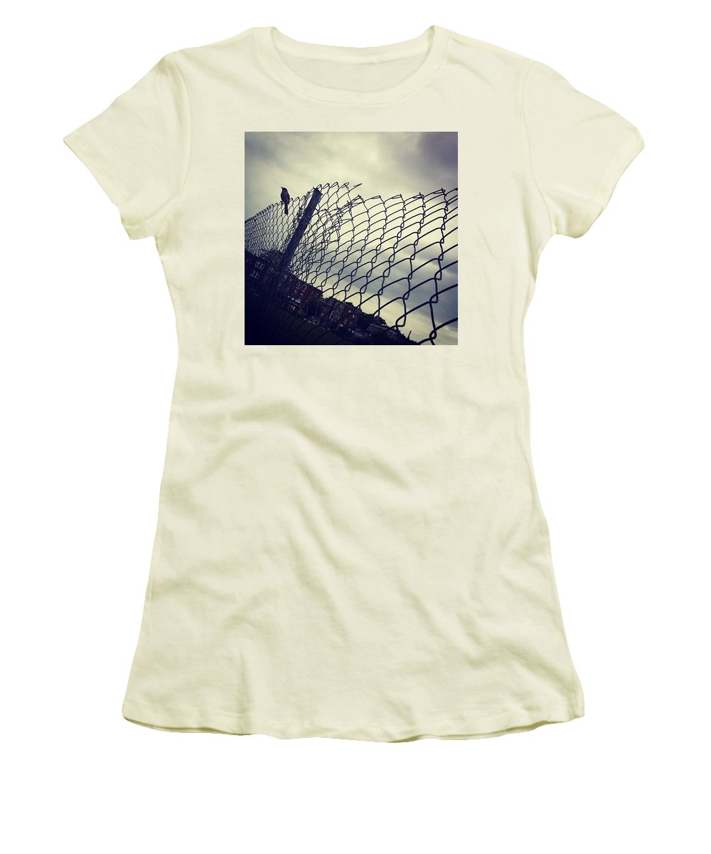 Mockingbird Women's T-Shirt (Athletic Fit) featuring the photograph Mock. Yeah! Ing. Yeah! Bird. Yeah! by Katie Cupcakes