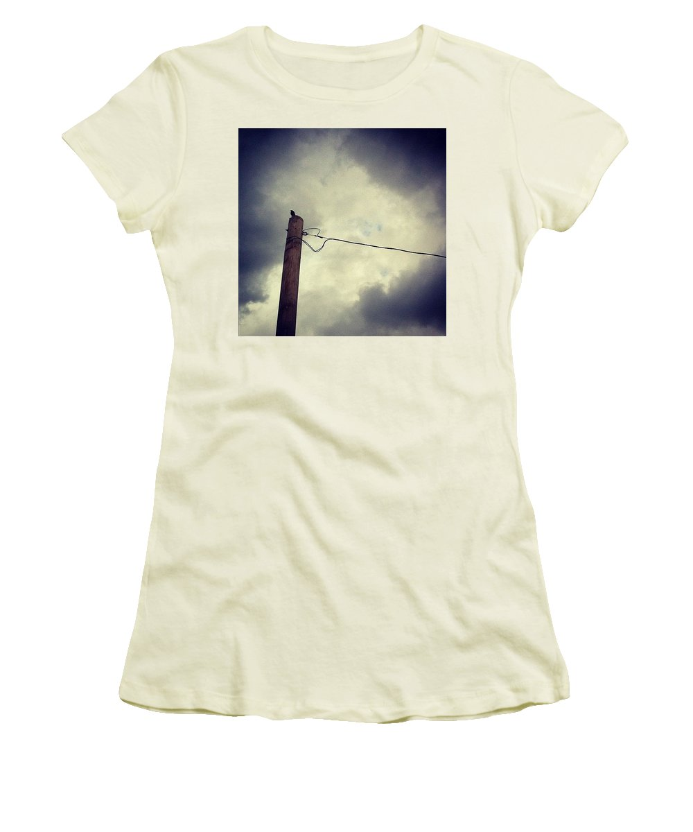 Storm Women's T-Shirt (Athletic Fit) featuring the photograph #storm Watcher by Katie Cupcakes