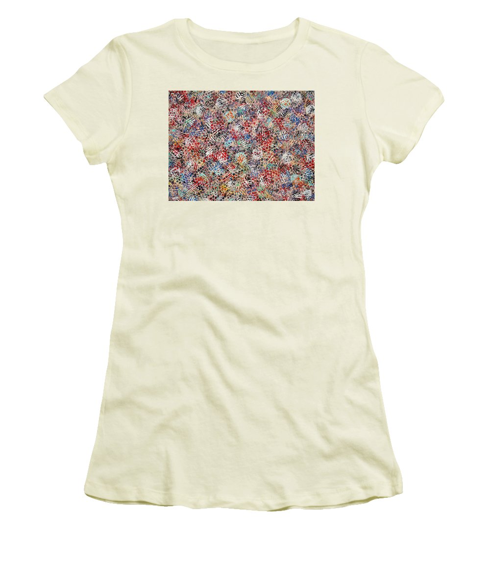 Golf Women's T-Shirt (Athletic Fit) featuring the painting Golf by Natalie Holland