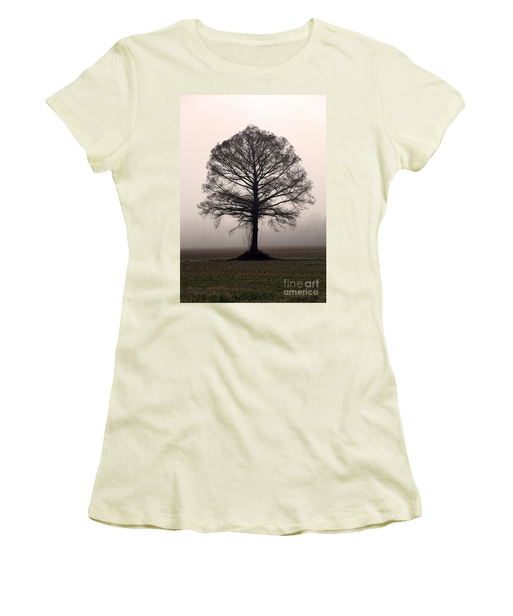 Trees Women's T-Shirt (Athletic Fit) featuring the photograph The Tree by Amanda Barcon
