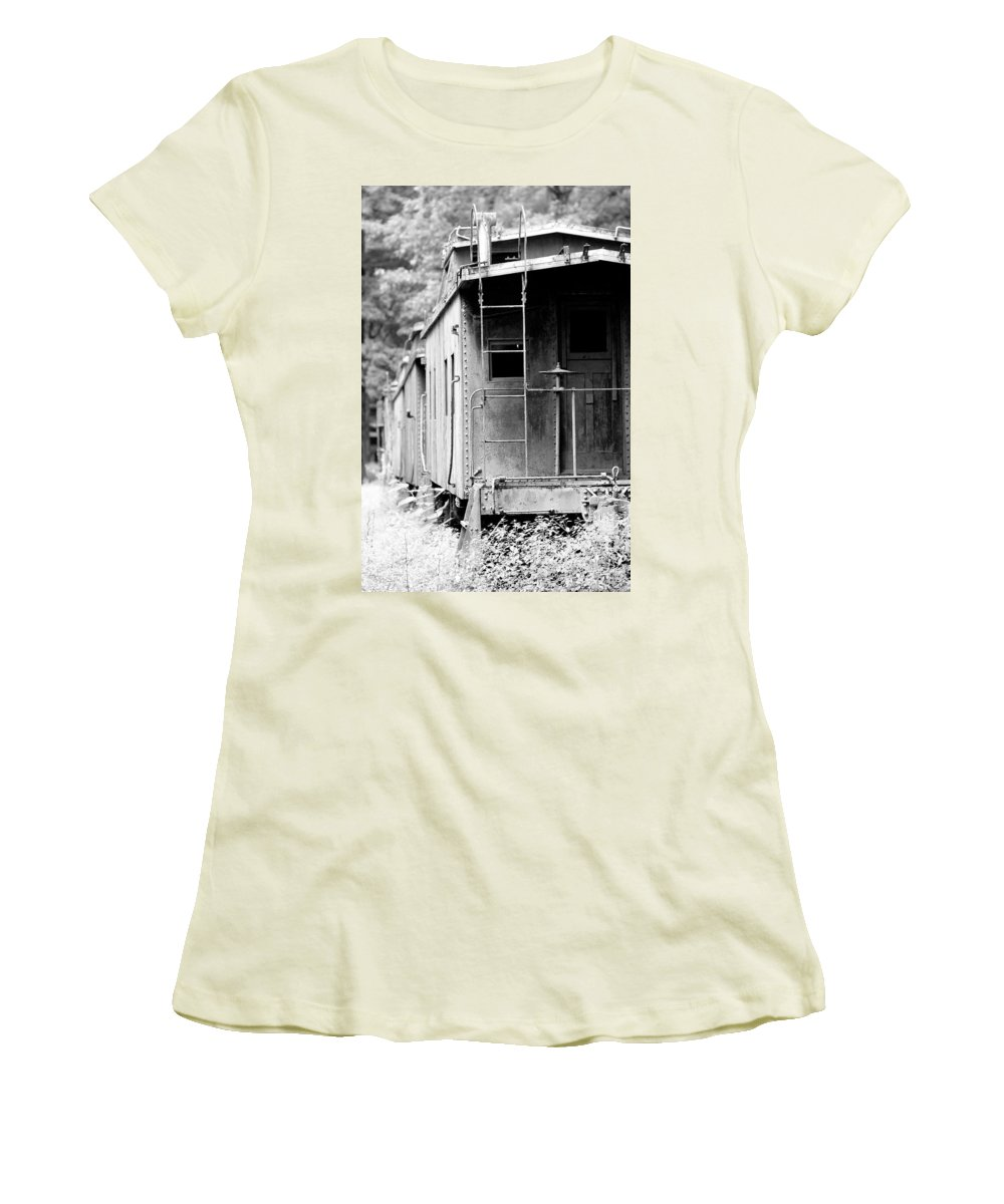 Train Women's T-Shirt (Athletic Fit) featuring the photograph Train by Sebastian Musial