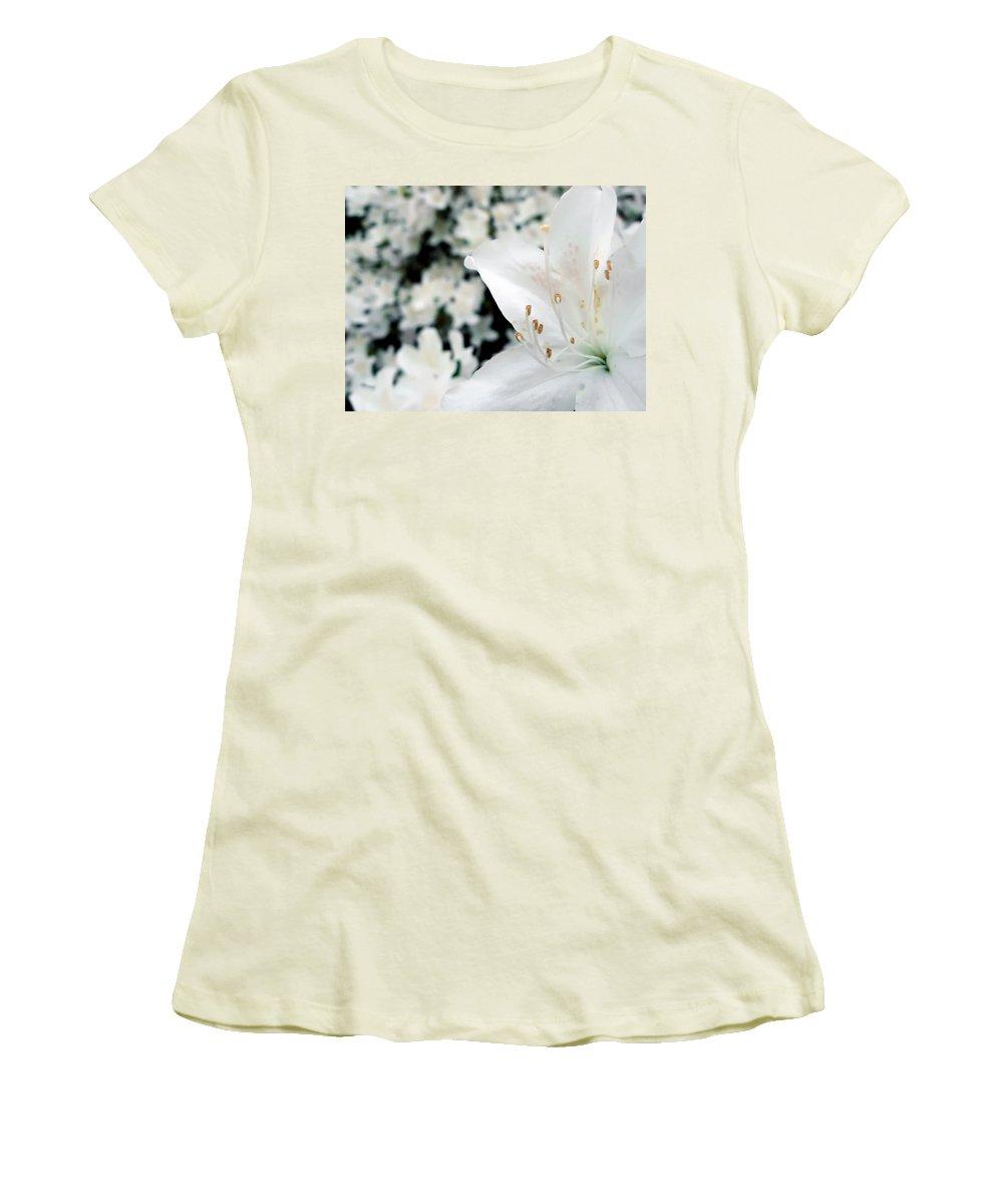 Azalea Women's T-Shirt (Athletic Fit) featuring the photograph Azalea by Daniel Csoka