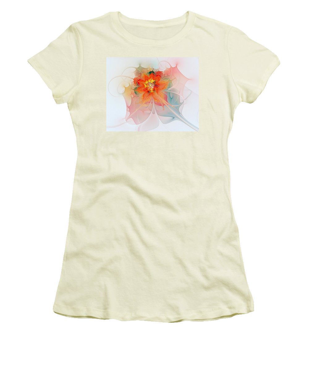 Digital Art Women's T-Shirt (Athletic Fit) featuring the digital art A Touch Of Spring by Amanda Moore
