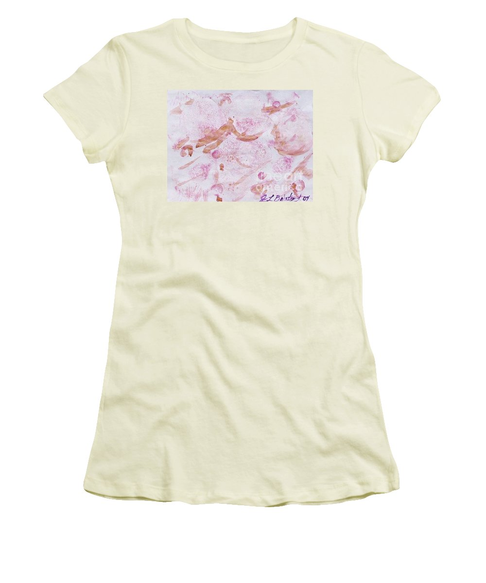 Organic Women's T-Shirt (Athletic Fit) featuring the painting Abstract- Vegetable Beet Print by Jamey Balester