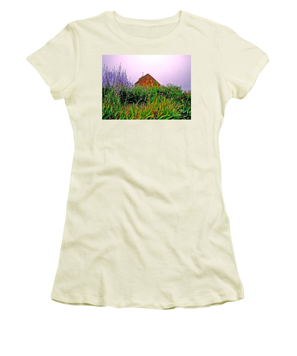 Chapel Women's T-Shirt (Athletic Fit) featuring the photograph Ameugny 3 by Jeff Barrett