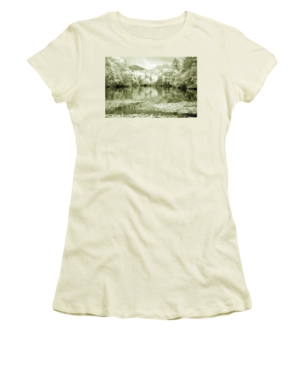 Infrared Women's T-Shirt (Athletic Fit) featuring the photograph Another World by Alex Grichenko
