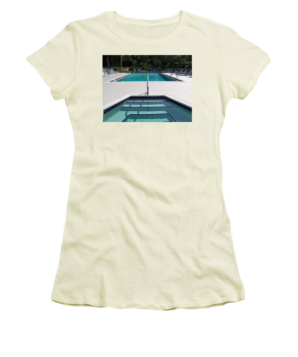 Pool Women's T-Shirt (Athletic Fit) featuring the photograph Aqua by Laurie Paci