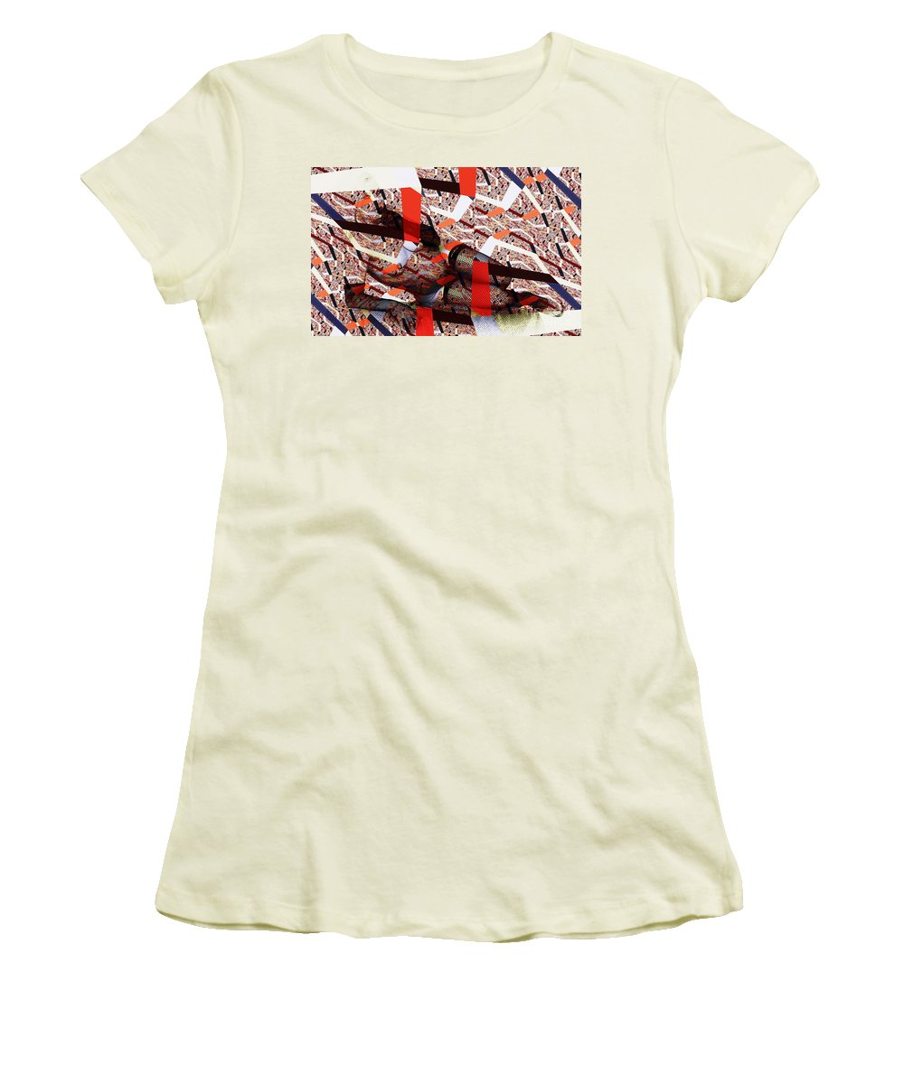 Clay Women's T-Shirt (Athletic Fit) featuring the photograph Atomic Link Pinup by Clayton Bruster