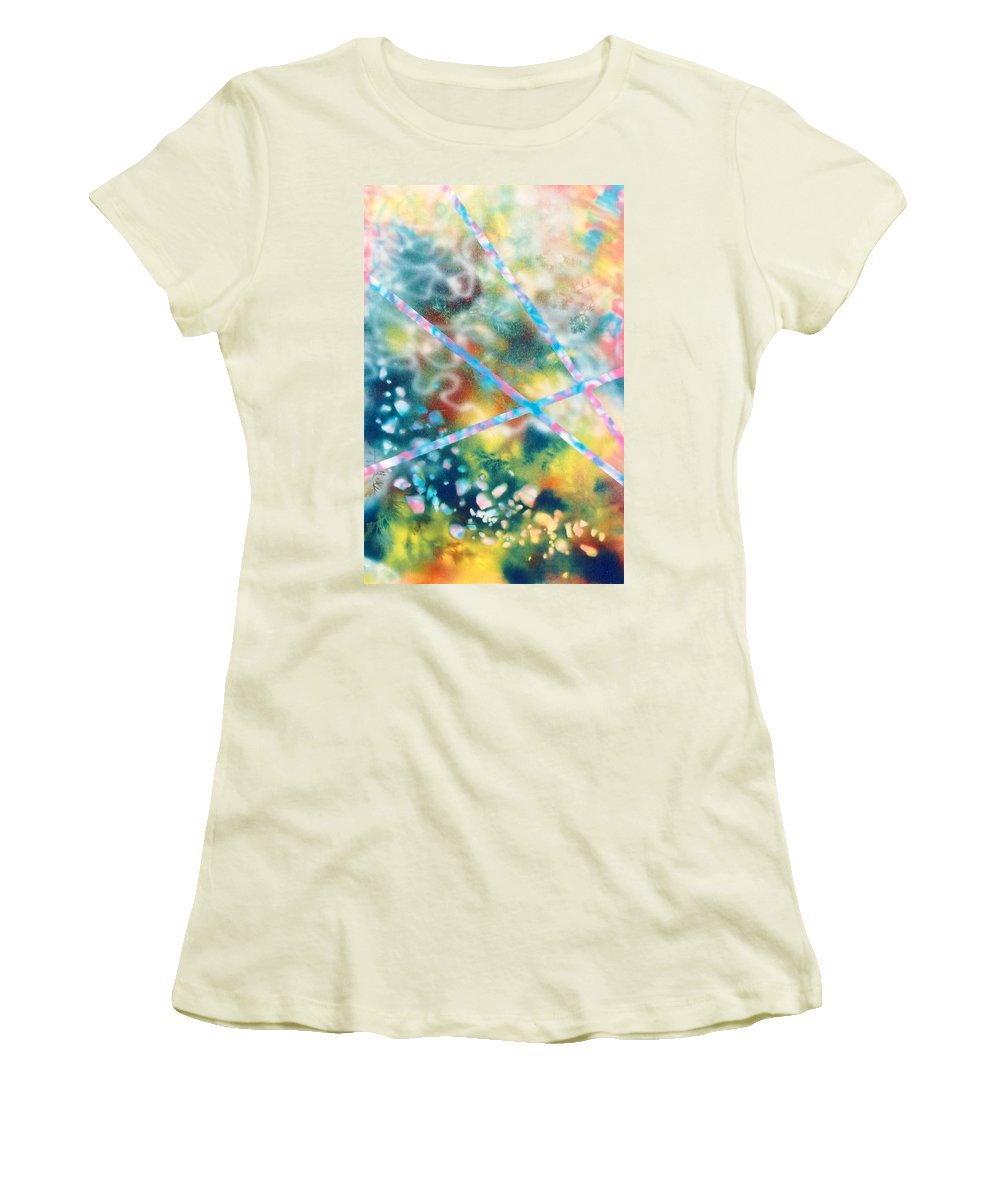 Abstract Women's T-Shirt (Athletic Fit) featuring the painting Autumn by Micah Guenther