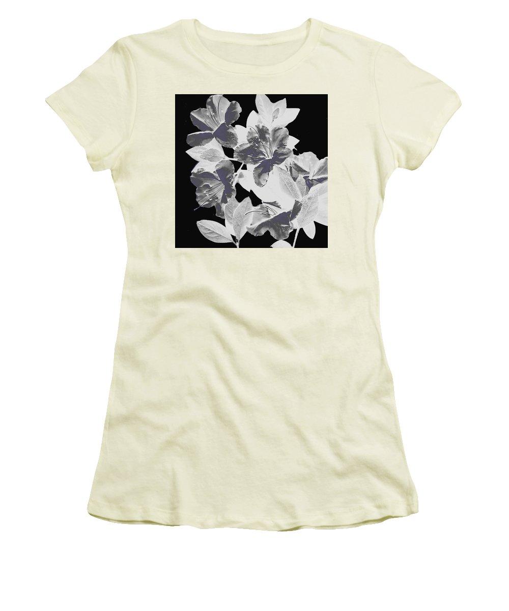 Azalea Women's T-Shirt (Athletic Fit) featuring the photograph Azalea Branch by Wayne Potrafka