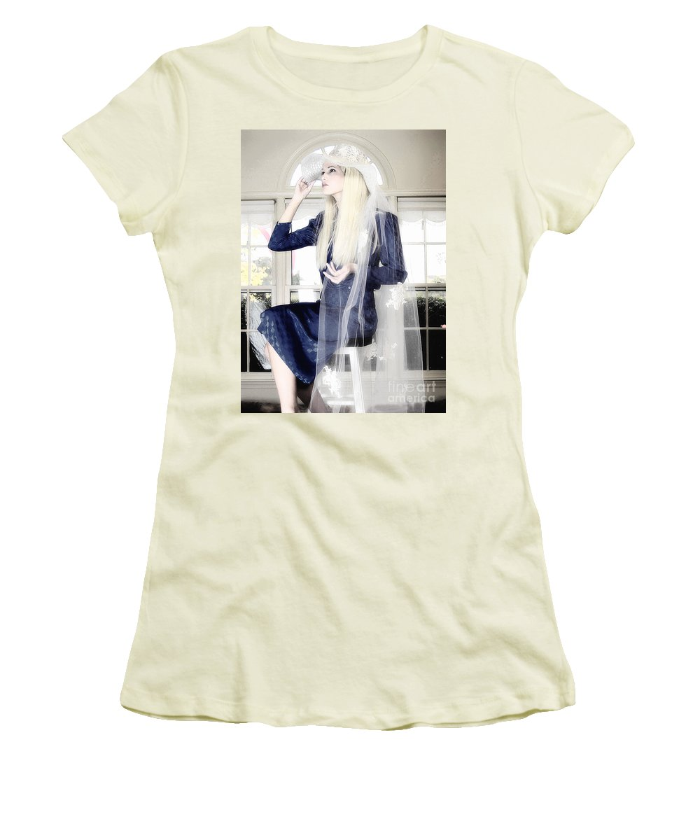 Clay Women's T-Shirt (Athletic Fit) featuring the photograph Blanco Beauty by Clayton Bruster