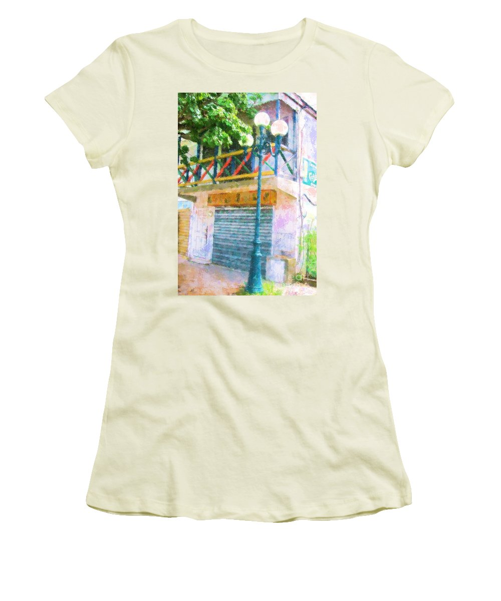 St. Martin Women's T-Shirt (Athletic Fit) featuring the photograph Cest La Vie by Debbi Granruth