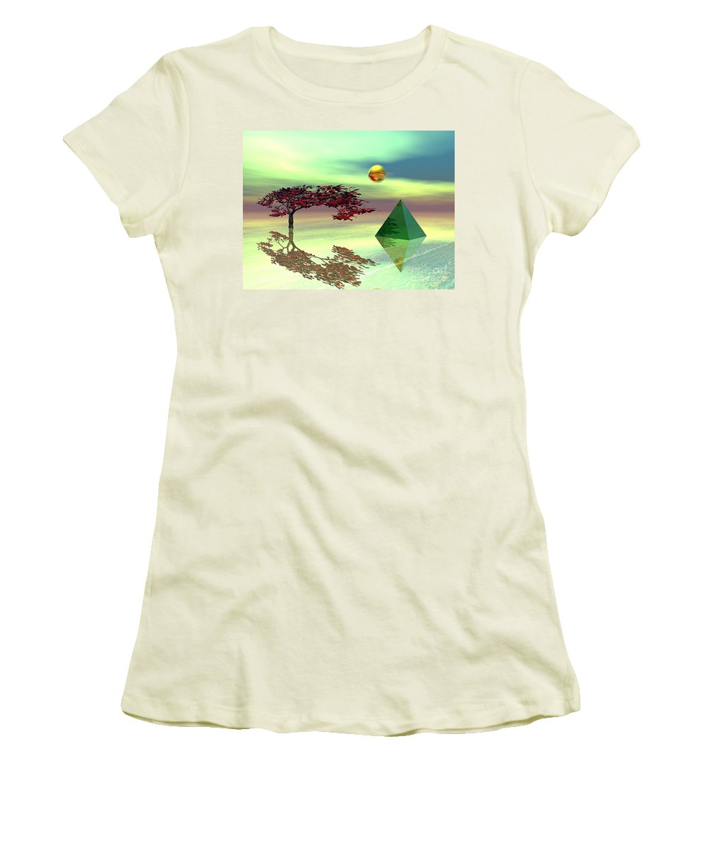 Fantasy Women's T-Shirt (Athletic Fit) featuring the digital art Contemplative by Oscar Basurto Carbonell