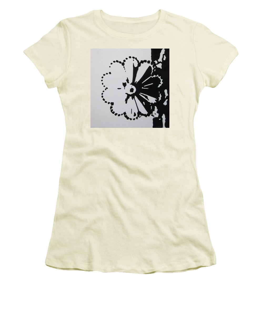 Abstract Women's T-Shirt (Athletic Fit) featuring the painting Day And Night I by Lynet McDonald