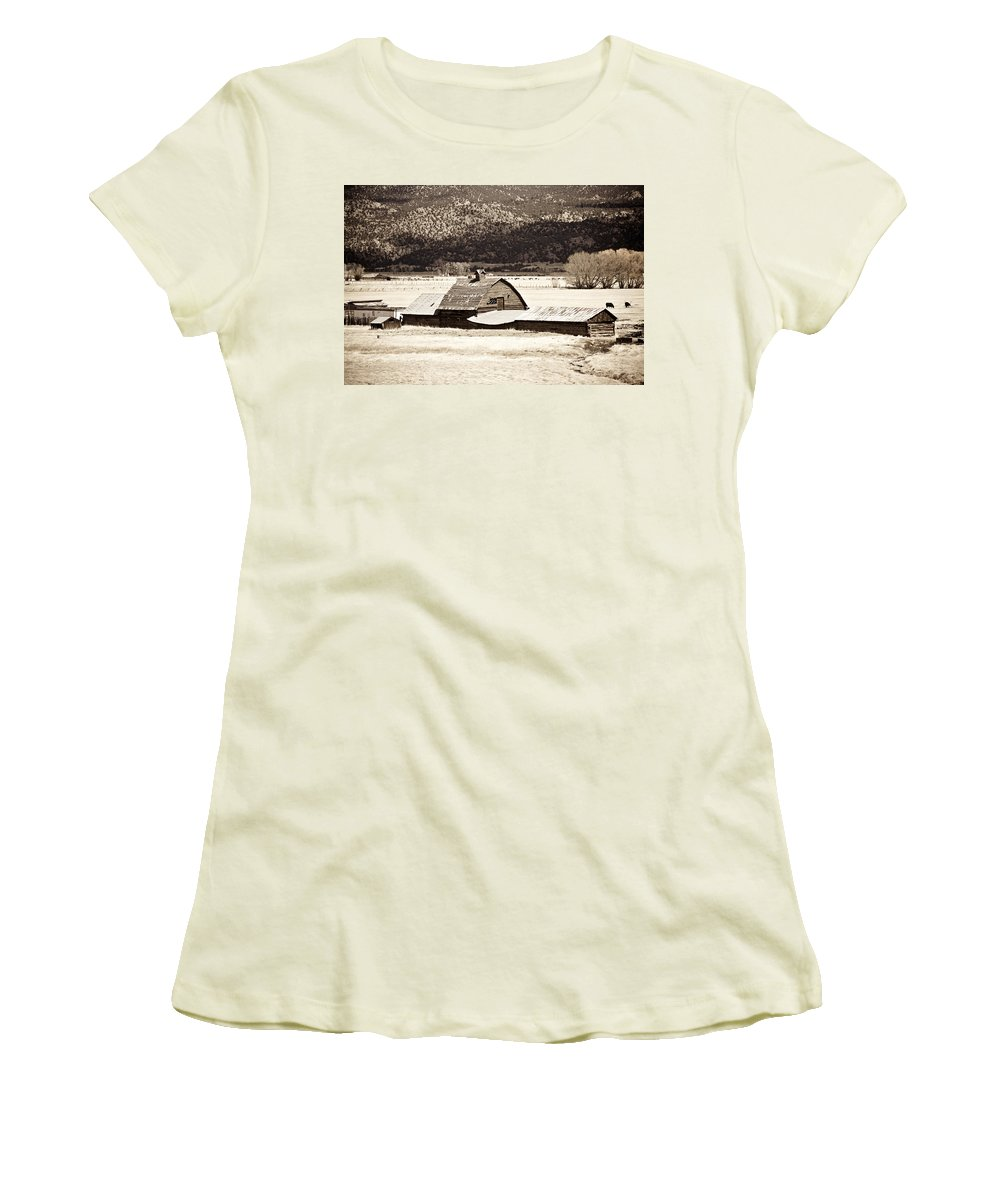 Americana Women's T-Shirt (Athletic Fit) featuring the photograph Down On The Farm by Marilyn Hunt