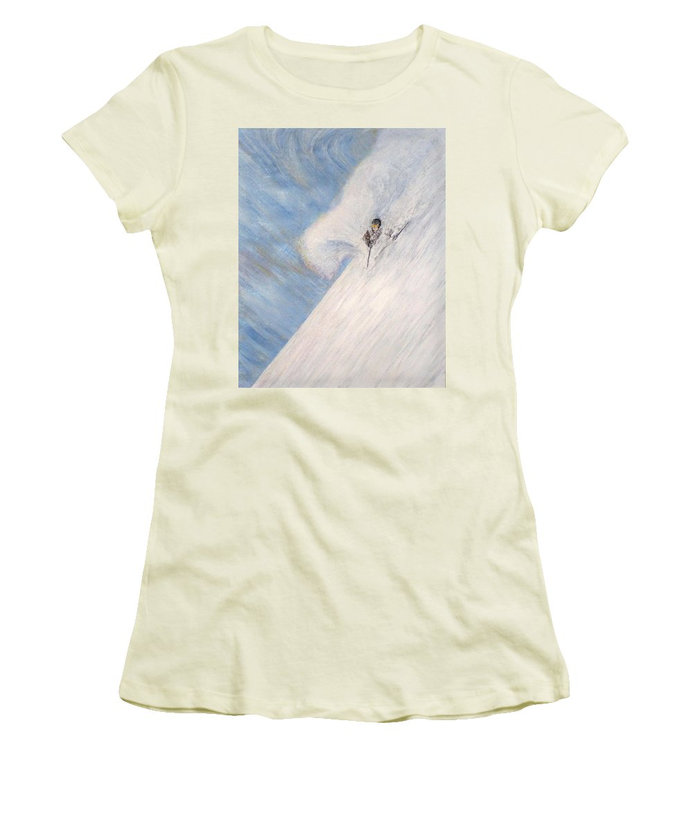 Landscape Women's T-Shirt (Athletic Fit) featuring the painting Dreamsareal by Michael Cuozzo
