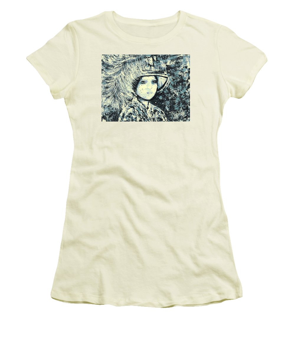 Woman Women's T-Shirt (Athletic Fit) featuring the painting Evalina by Natalie Holland