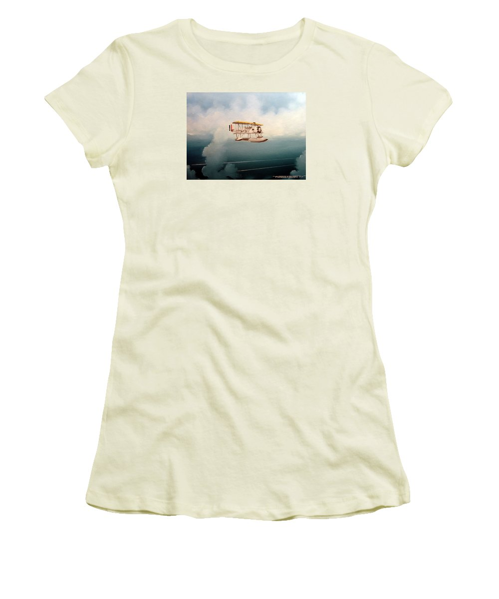 Military Women's T-Shirt (Athletic Fit) featuring the painting Eyes Of The Fleet by Marc Stewart
