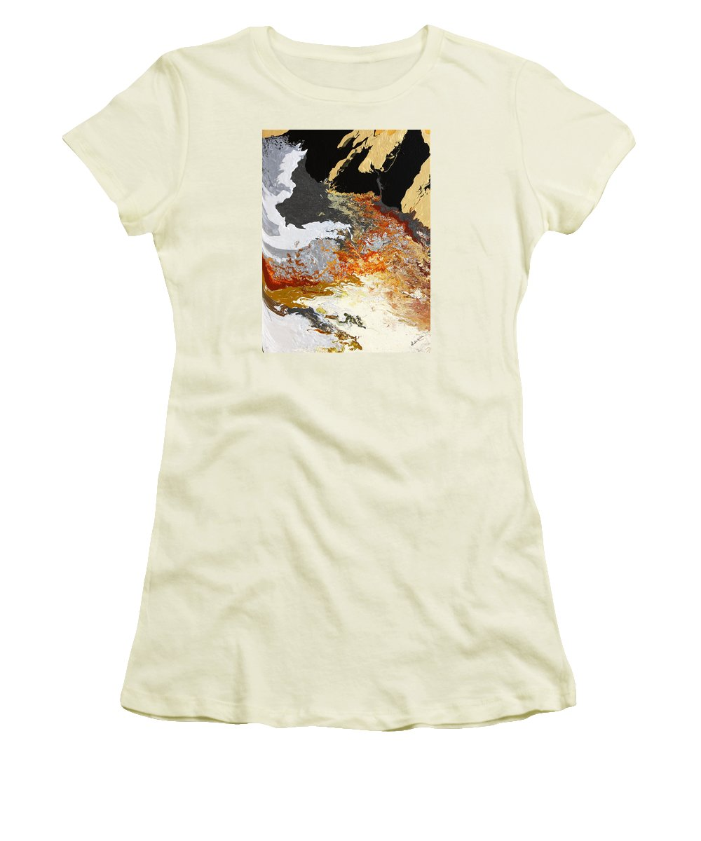 Fusionart Women's T-Shirt (Athletic Fit) featuring the painting Fathom by Ralph White