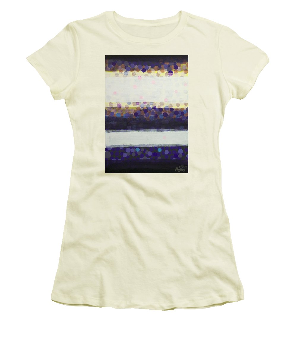 Final Moments Women's T-Shirt (Athletic Fit) featuring the painting Final Moments by Alan Hogan